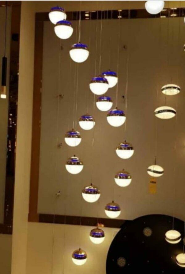 double hanging chandelier