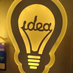 Idea shape bulp led wall light